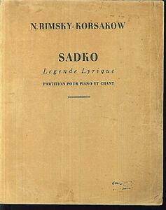 N-Rimsky-Korsakow-SADKO-Klavierauszug-u-Text-alt