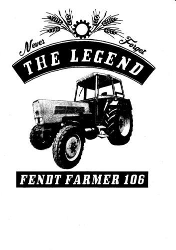 Fendt Farmer 106 T-shirt tracteurs tracteur YOUNGTIMER Oldtimer