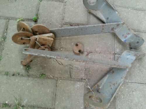 ferguson tractor Rear linkage brackets with pins and spacers used