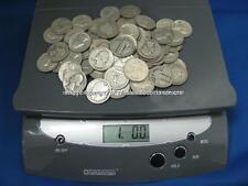 ONE POUND 90% SILVER QUARTERS PRE-1965 70+COINS NO JUNK