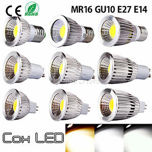 Ultra Bright MR16 GU10 E27 E14 Dimmable CREE LED COB Spot Light Bulb 6W 9W 12W