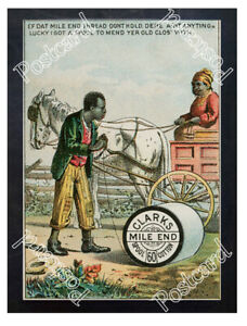 Historic-Clark-039-s-Cotton-Thread-Advertising-Postcard-1