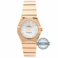 Omega Constellation 123.55.27.60.55.005 Quartz Gold Diamonds MOP Ladies Watch