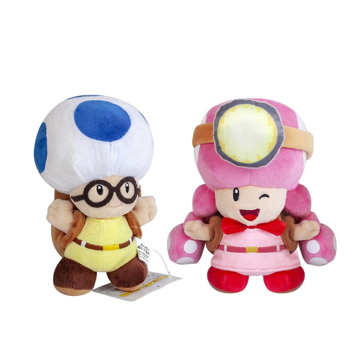 Super Mario Bros Toad och Toaddte Fylld Plush Doll Girl och Boy leksak