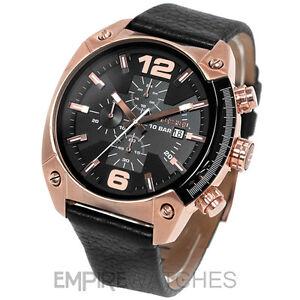3fbf7704fb24 Nuevo   Diesel Hombre Overflow Cronógrafo Rosa Reloj De Oro - DZ4297 ...