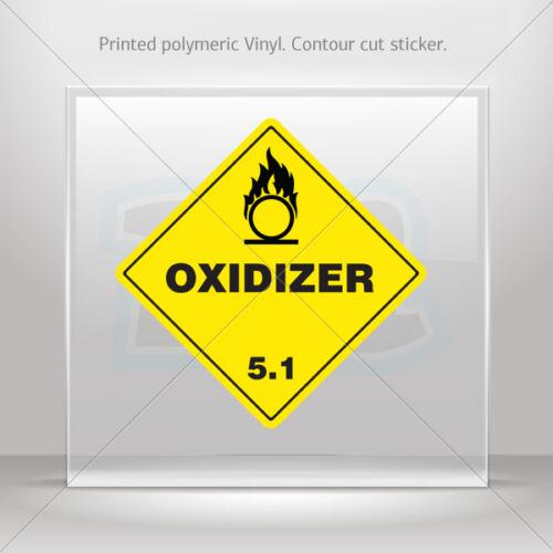 Oxidizer 5.1 car st5 X8846 Decal Stickers Hazard Classification Class 5