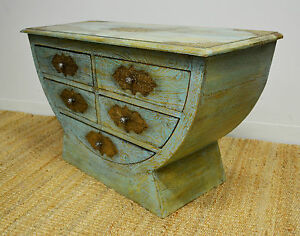 Timber-Distressed-Country-Chic-Sideboard-Cabinet-TV-Stand-Metal-Multi-Color