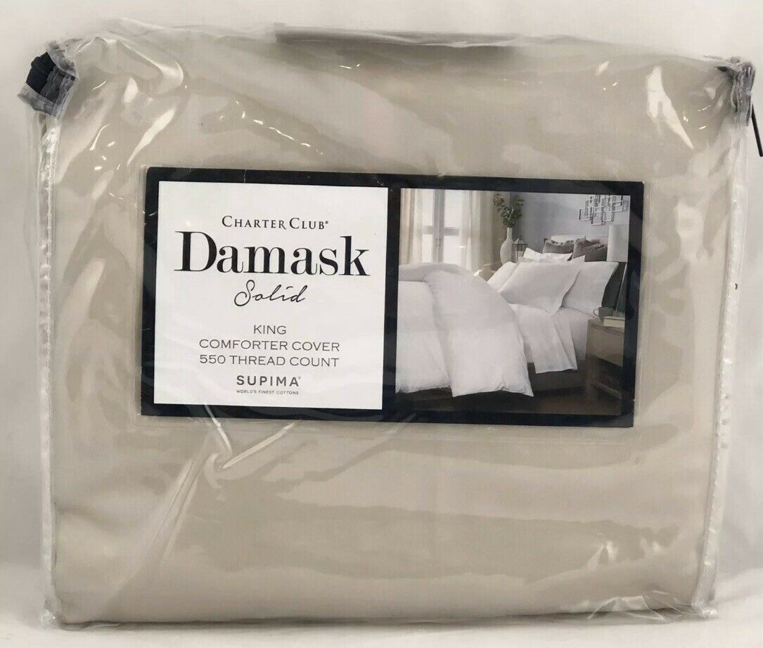 Charter Club Damask Solid 550 Tc Cotton