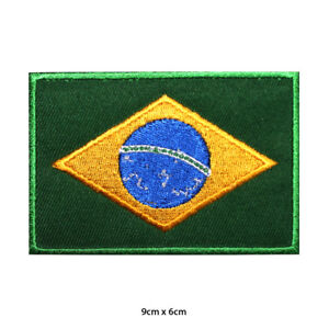 Brazil-National-Flag-Embroidered-Patch-Iron-on-Sew-On-Badge-For-Clothes-etc