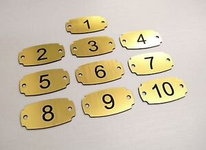 Set Of Laser Engraved Number Tags Table Locker PubRestaurant - Custom restaurant table numbers