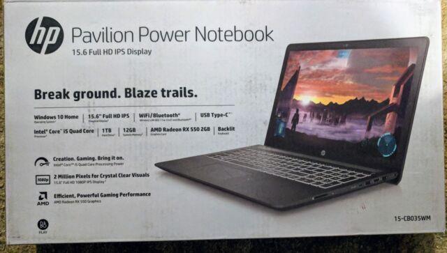 HP Pavilion Power 15-cb035wm Gaming Laptop i5-7300HQ 12GB 1TB AMD Radeon RX 550
