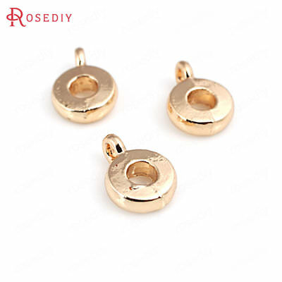 20PCS Height 7.5MM 9.5MM 11MM 16MM 24K  Gold Color Brass Charms Connector