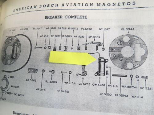 2 Bosch Condensers SB9RU3 Magneto R985 Stearman SNJ Aircraft Pratt Whitney R1340