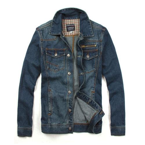 KHN139 New Fashion Men/'s Jeans Washed Vintage Casual Biker Denim Jackets