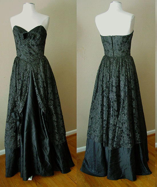 VINTAGE FLIRTATIONS OF ALFRED ANGELO LACE CORSET EVENING GOWN DRESS WEDDING PROM