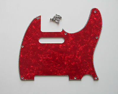 Red Pearl Tele Style Guitar Pick Guard Scratch Plate Fits Telecaster Guitar