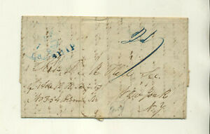1842 JAMES HUCKINS GALVESTON TEXAS TO REVEREND B M HILL NYC STMPLS LTTR CVR