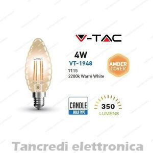 Lampadina-led-V-TAC-4W-35W-E14-VT-1948-candela-filamento-lampada-vintage-ambra