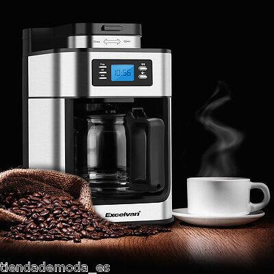 Excelvan 1.25L 1050W 10-Cup Coffee Machine Hot Drink Maker + Reusable Filter UK