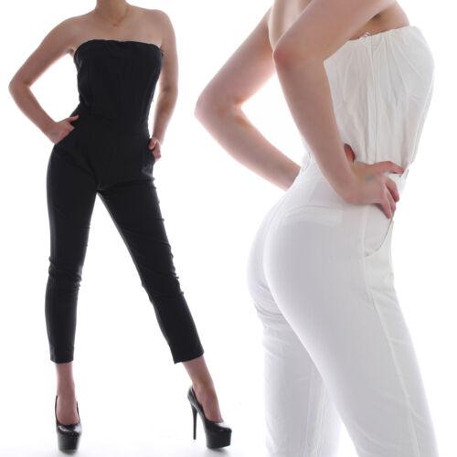 Donna Overall Jumpsuit Pantaloni vestito Business Onepiece Elegante Bandeau Dress b83