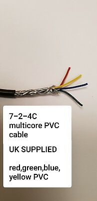 0.22 mm² 7-2-4C  Multicore Screened Cable 4 Core 7 x 0.2mm  Def-Stan 61-12