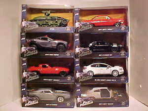 8 pack Fast & Furious 8 Dom's and Letty's Diecast Car 1:24 Jada Toys 8 inch F8