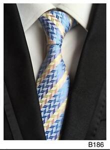 Blue and Silver Tie Stripe Patterned Handmade 100/% Silk Wedding Necktie