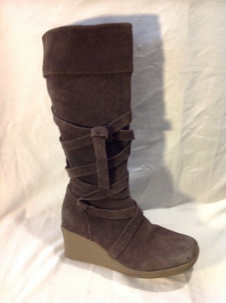 Marks&Spencer Brown Mid Calf Suede Boots Size5