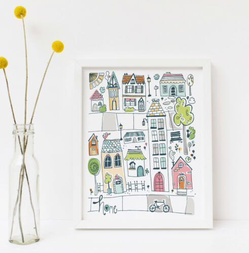 Welcome to our Happy Home 8x10 Wall Art Print Home Sweet Home Housewarming Gift