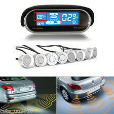 New Auto SILVER 8 Parking Sensor LED Display Car Reverse Backup Radar System Kit