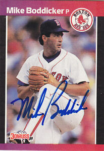 1989-Donruss-Signed-612-Mike-Boddicker-Red-Sox-Autograph