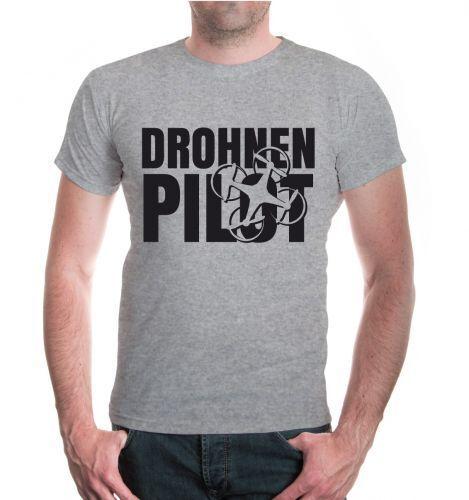 Hommes unisexe manches courtes T-shirt drones pilote flugdrohne Drone volant