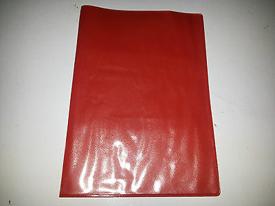 A4 HOLDER WITH CLEAR ON OUTSIDE RED LEATHER LOOK MOT HOLDER