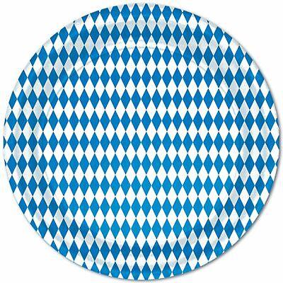 6m Kreppgirlande Oktoberfest Blau Weiß