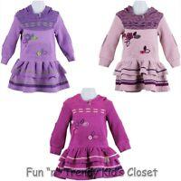 Naartjie Baby Girls Size 3-6 Months Piece Stretch Fleece Hooded Flower Dress