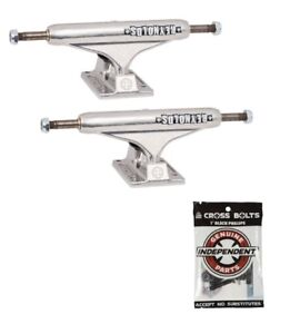 Independent-139-Hollow-Reynolds-Silver-Skateboard-Trucks-1-034-Hardware