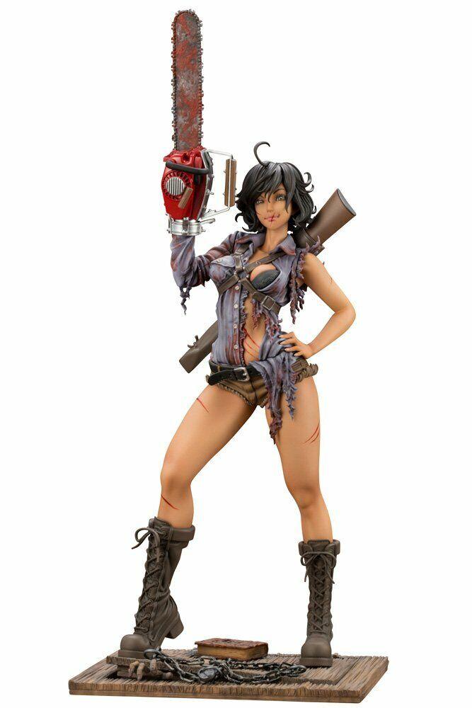 Horror Pretty Girl   The Dead Of 2-Ash Williams 1 7 Scala PVC Statuetta F S  salutare