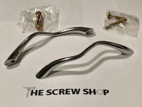 Cupboard Pull Handle Pack of 2 Hiatt Squiggle Polished Chrome Finish Drawer