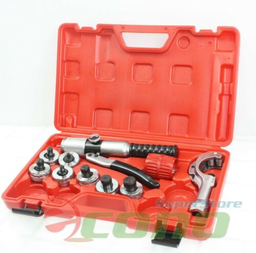 Pro Hydraulic HVAC Pipe Tube Expander 7 Lever Expanding Swaging Kit 3/8-1-1/8