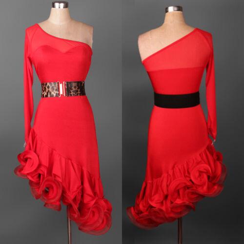 NEW Latin Ballroom Dance Dress Modern Salsa Waltz Standard Long Dress#FM006