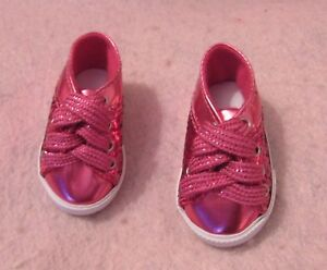 Pink Sequin Tennis Shoes fit American Girl Doll 18 Inch Clothes Seller lsful
