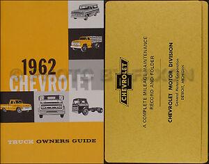 1962 Chevrolet Camion Propriétaire Manuelle Paquet 62 Pickup Panneau Suburban Loqknfvg-07235440-452920951