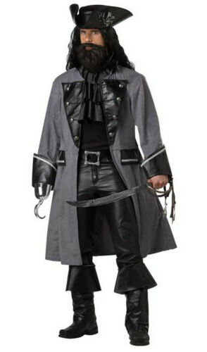 Blackbeard the Pirate Adult Costume Black Sails