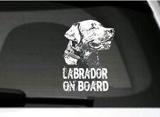 Labrador On Board, Adesivo Auto, Alto Pulizia, Grande Regalo Per Amanti Dei Cani