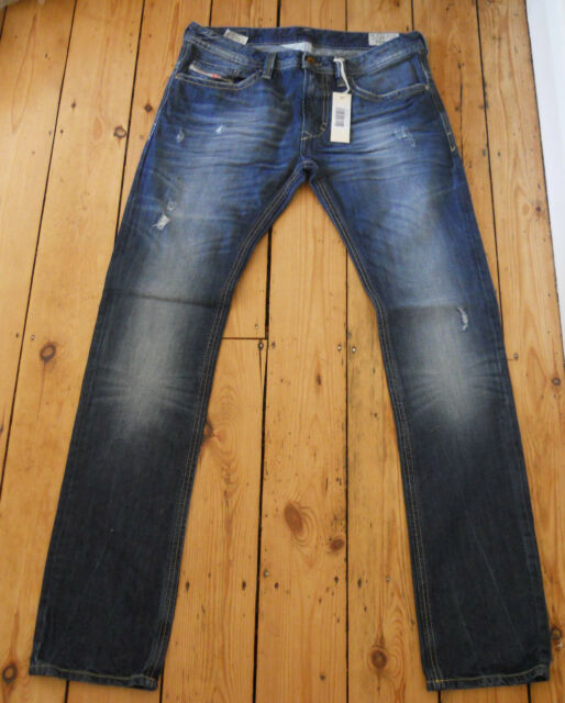 af210e72 Mens Diesel Jeans Thavar 8B9 Mens Slim Skinny 31 x 34 Authentic New Tags