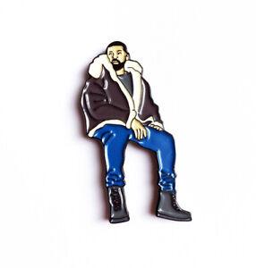 Nouveau Drake Vues Émail Broche Rap Rappeur Ovo Toronto Hip Hop Fan Le 6 Scorpion-afficher Le Titre D'origine