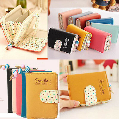 New Women 2017 Lady Sweet Cute Short Purse Clutch Wallet  Zip Bag Card Holder