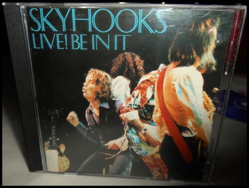 """1 of 1 - Rare Skyhooks """"Live! Be In It"""" CD 15-tracks Mushroom Records Midprice Masters"""