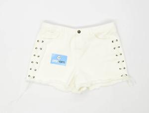 Womens-Matalan-White-Denim-Shorts-Size-14-L3