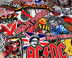 Job-Lot-10-Large-Music-Band-Stickers-Decals-Rock-Metal-Punk-Guitar-Case-Laptop